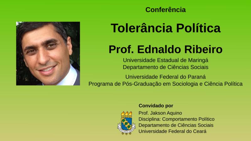 Cartaz com foto de Ednaldo Ribeiro